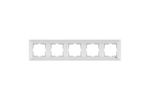 VIKO MERIDIAN белый рамка 5 местная горизонтальная