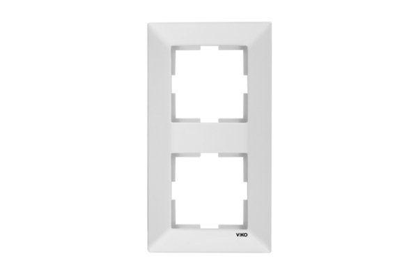 VIKO MERIDIAN белый рамка 2 местная вертикальная