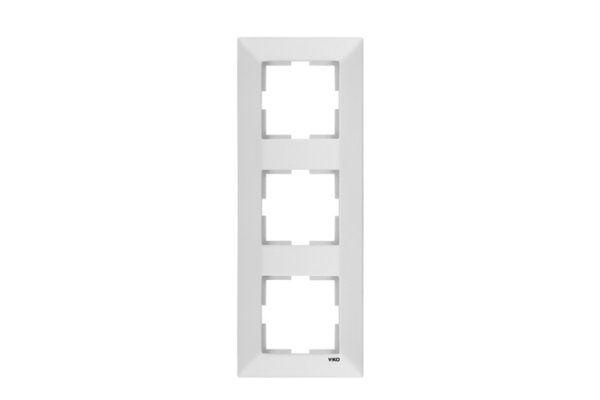 VIKO MERIDIAN белый рамка 3 местная вертикальная