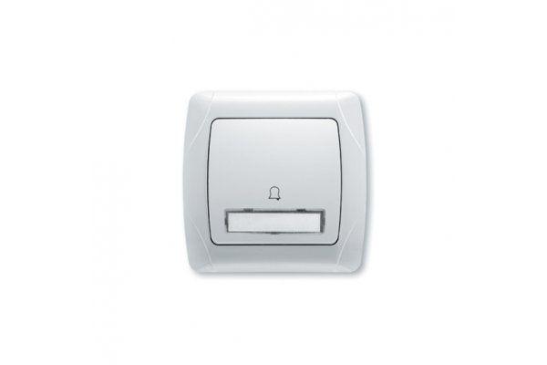 VIKO CARMEN белый кнопка звонка с надписью и подсветкой