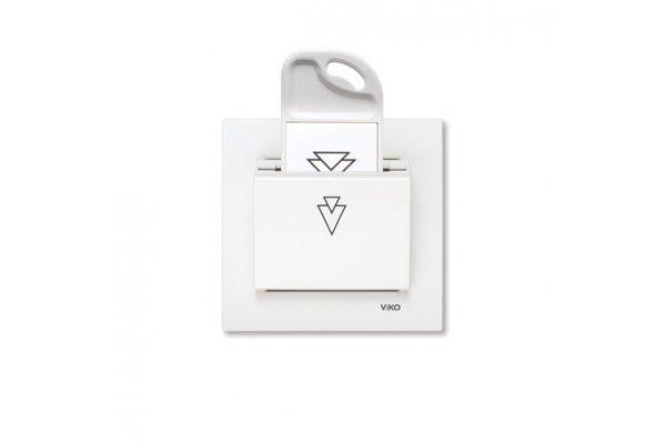 VIKO KARRE белый Карточный выключатель стандартный