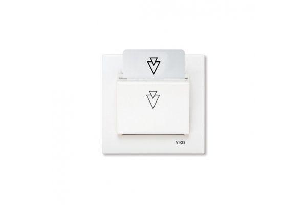 VIKO KARRE белый карточный выключатель со считыванием штрих-кода