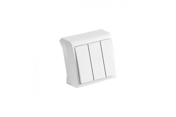 VIKO VERA белый выключатель трехклавишный