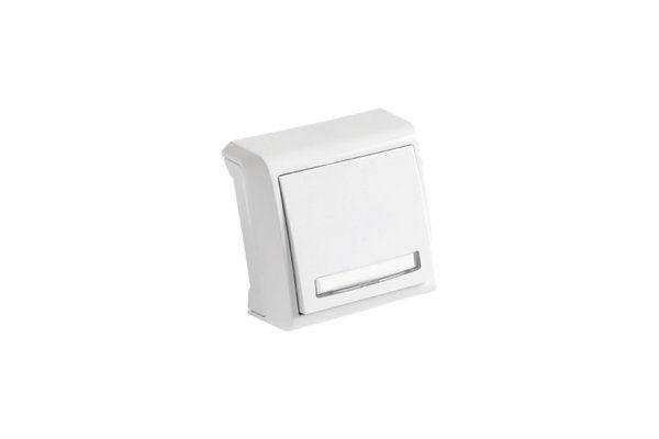 VIKO VERA белый кнопка звонка с подсветкой и полем для надписи
