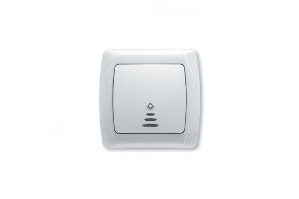 VIKO CARMEN белый кнопочный выключатель с подсветкой