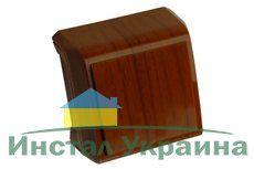 VIKO VERA красное дерево блок вертикальный выключатель двухклавишный + Розетка