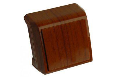VIKO VERA красное дерево блок вертикальный выключатель двухклавишный + Розетка цена