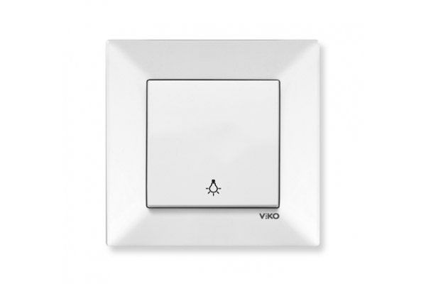 VIKO MERIDIAN белый кнопочный выключатель