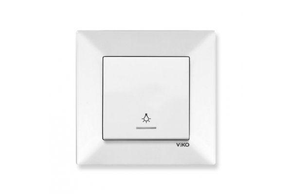 VIKO MERIDIAN крем кнопочный выключатель с подсветкой