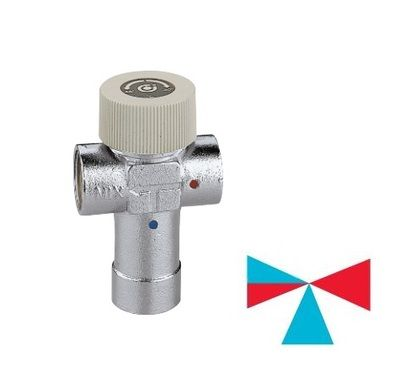 Caleffi смеситель-термостат 3/4` (30-48 С) (520530) цена