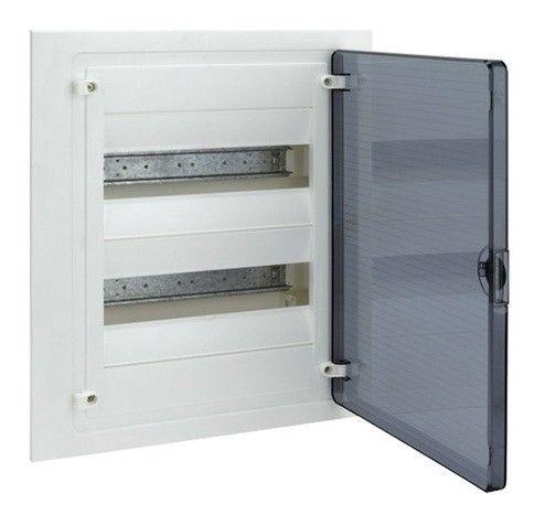 HAGER Щит встроеный Golf 2 ряда 24 модуля з/у прозрачные двери с клемами IP40 (VF212TD)