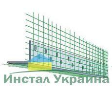 Уголок ПВХ перф. з сеткой