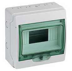 Schneider electric Щит навесной 1 ряд 8 модулей прозрачные двери IP65 (13978)