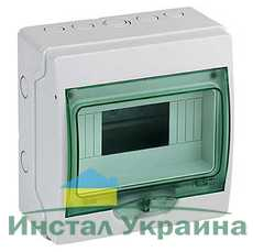 Schneider electric Щит навесной 1 ряд 8 модулей прозрачные двери IP65 (13978)