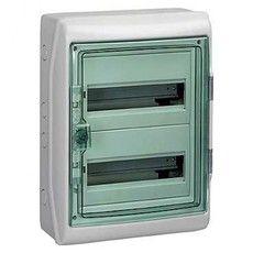 Schneider electric Щит навесной 2 ряда 24 модуля прозрачные двери IP65 с клемами (13983)