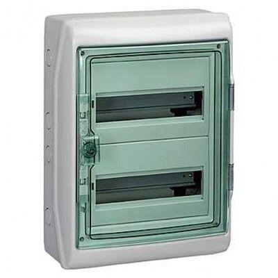 Schneider electric Щит навесной 2 ряда 24 модуля прозрачные двери IP65 с клемами (13983) цена