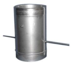 Кагла 1,00 мм из нержавеющей стали (AISI 304) с термоизоляцией в оцинкованной стали (AISI 304) ф125/185