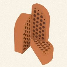 Кирпич керамический лицевой фасонный ЦФ-3 персик