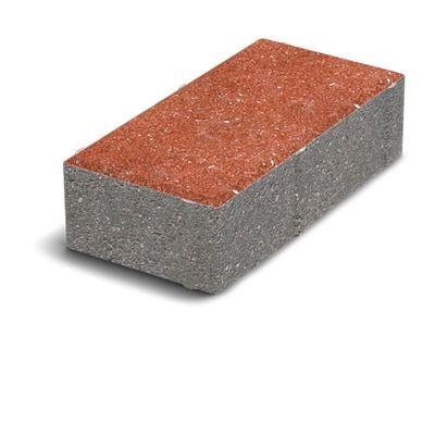 Тротуарная плитка Кирпич Стандартный (красный) 200х100 (8 см) цена