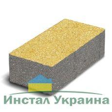 Тротуарная плитка Кирпич Стандартный (желтый) 200х100 для пешеходной зоны (4 см)
