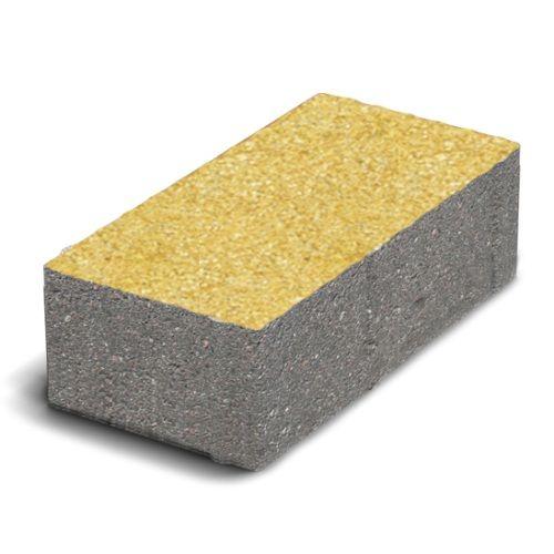 Тротуарная плитка Кирпич Стандартный (желтый) 200х100 (6 см)