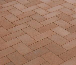 Тротуарная плитка Кирпич Стандартный (персиковый) 200х100 для пешеходной зоны (4 см)