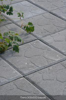 Тротуарная плитка Плита 300х300 (серый) для пешеходной зоны (4 см) цена