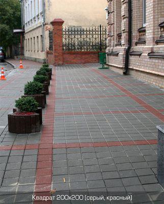 Тротуарная плитка Квадрат Большой 200х200 (серый) (6 см) цена