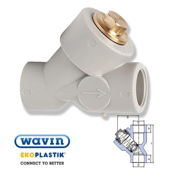 Wavin Ekoplastik полипропиленовый обратный клапан соединение внутренние 25