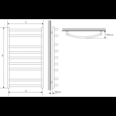 Полотенцесушитель Laris Классик П9 500х900 mm цены