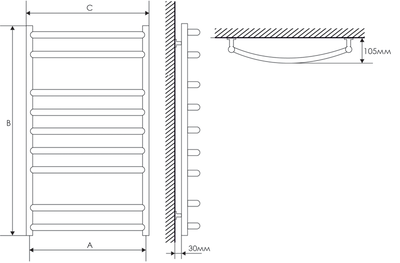 Полотенцесушитель Laris Классик П15 500х1500 mm цена