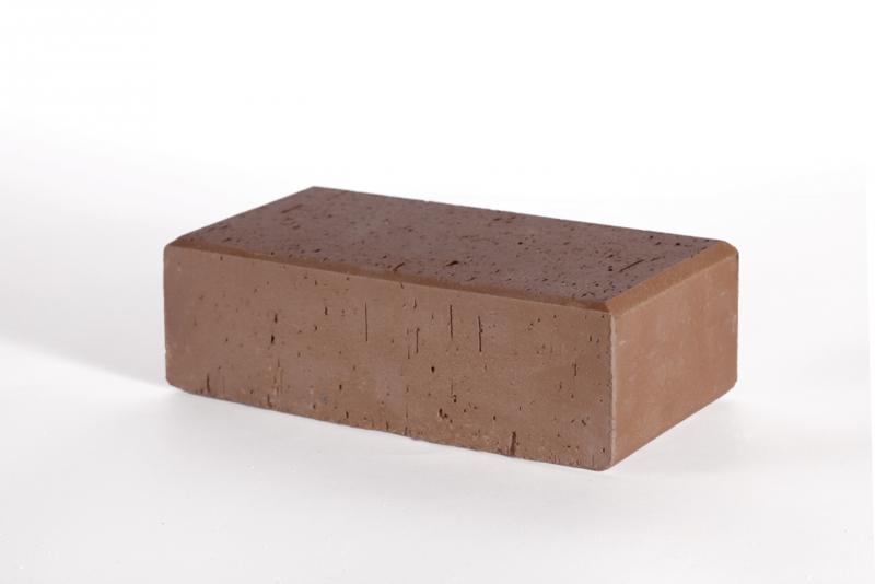 Тротуарная плитка Кирпич Стандартный (коричневый) 200х100 для пешеходной зоны (4 см)