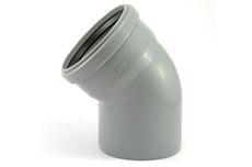 Мпласт колено 110 / 45° для внутренней канализации