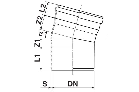 Мпласт Колено DN 250/15 град. для наружной канализации