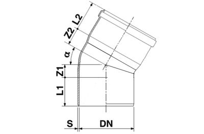 Мпласт Колено DN 250/30 град. для наружной канализации цены