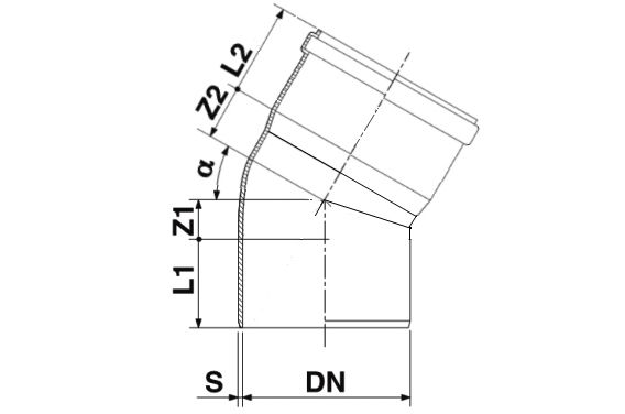 Мпласт Колено DN 250/30 град. для наружной канализации
