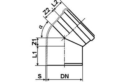 Мпласт Колено DN 160/45 град. для наружной канализации цены