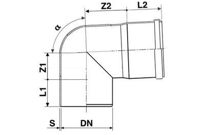Мпласт Колено DN 110/87 град. для наружной канализации цены