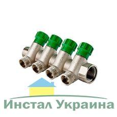 Valtec VTc.560 коллектор регул. Нар.резьба 3в..х3/4`х1/2`х35* Никель