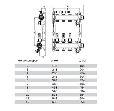 """77311012 Коллектор TECE S-HKV 12 с ротаметрами, 1"""" (нерж. сталь) цена"""