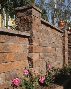 Камень декоративный для забора М-200 350х180х150 (персиковый)