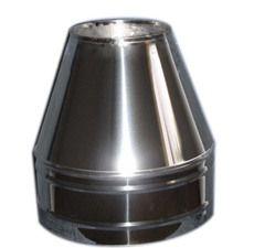 Конус термо из нержавеющей стали с термоизоляцией в оцинкованной стали 0,5мм ф120/180