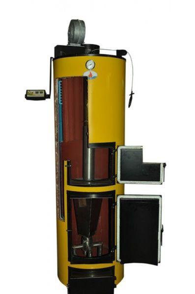 Твердотопливный котел длительного горения Буран 40 У (чугунный колосник)