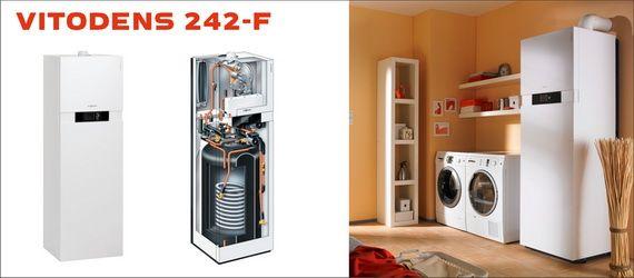 Viessmann Vitodens 242-F 19 кВт B2UA005 c Vitotronic 200 (погодозависимая теплогенерация) двухконтурный