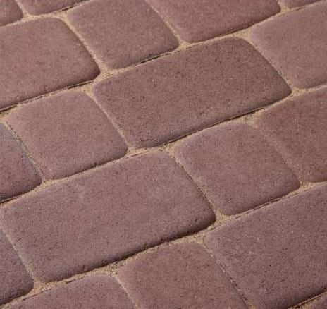 Тротуарная плитка Старая площадь 300х300 (коричневый) для пешеходной зоны (4 см)