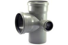 Мпласт крестовина 110/50-87 -2 пл (прав) для внутренней канализации