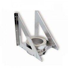 Кронштейн L=500 / б=2,0мм из нержавеющей стали (AISI 304) ф150