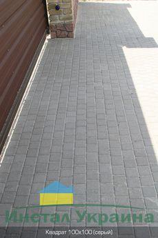 Тротуарная плитка Квадрат Малый 100х100 (серый) (6 см)