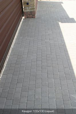 Тротуарная плитка Квадрат Малый 100х100 (серый) (6 см) цены