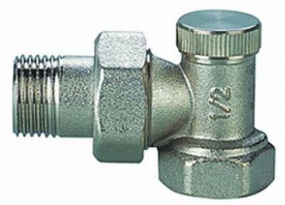 Кран радиаторный Solomon с нак. гайкой угловой п/ключ CHROM Art. 1844 ВН 1` цена